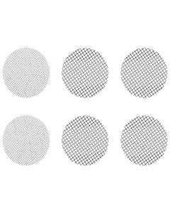 Questo set di retine miste piccole include 4 retine a a maglia grossa e 2 retine normali adatte per Crafty, Mighty e adattatori capsula di dosaggio